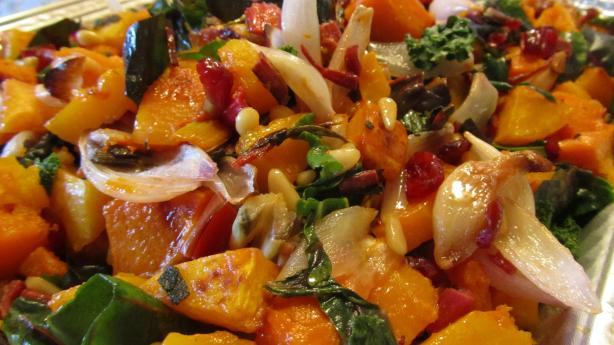 Roasted Butternut Squash, With Swiss Chard or Spinach