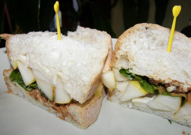 Brie & Spiced Pear Paste Sandwich