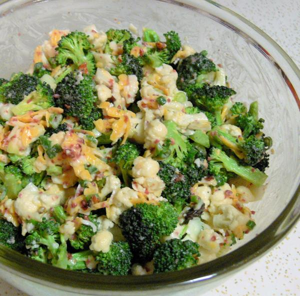 Broccoli,cauliflower Salad