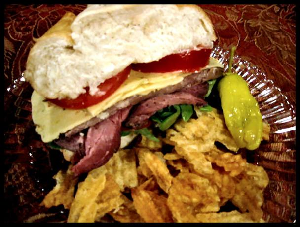 Picnic Roast Beef and Pepper-Jack Sandwich