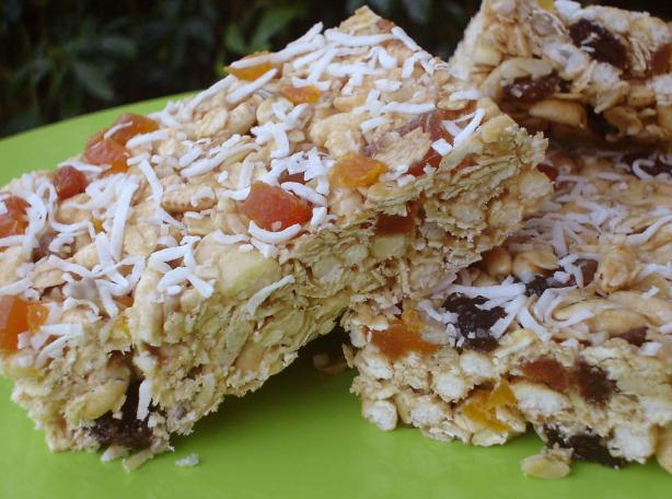 Whole-Grain No-Bake Granola Bars