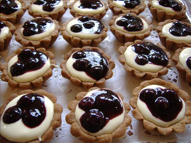 Blueberry Tarts With Meyer Lemon Cream