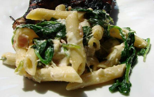 Pasta, Bacon & Spinach Salad
