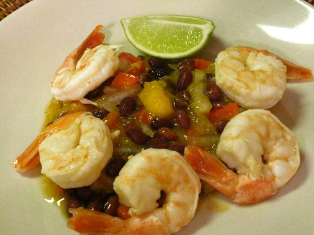 Calypso Shrimp With Black Bean Salsa