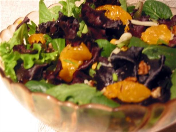 Mandarin Orange Salad With Ranch Dressing