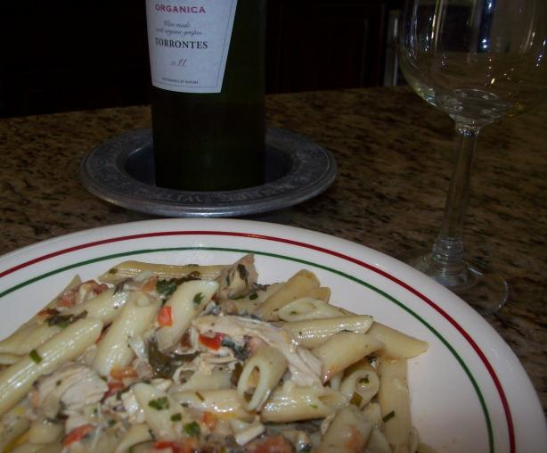 Pasta With Roasted Chicken and Fresh Herbs