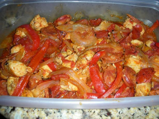 Chicken and Andouille Sausage With Peppers (Ww 5 Points)