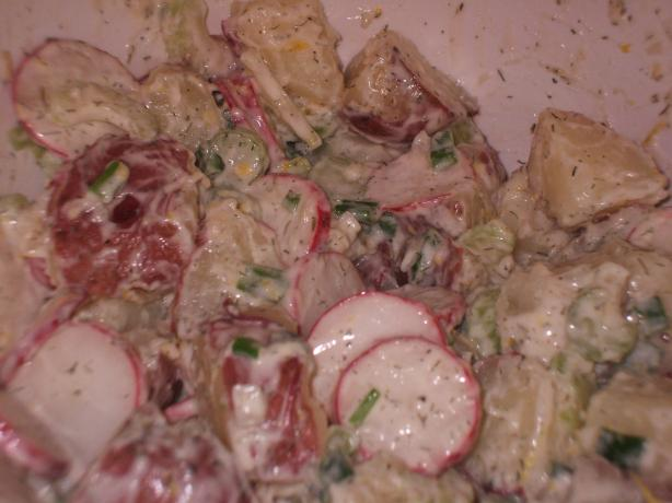 Creamy Potato Salad with Dill, Lemon & Radishes