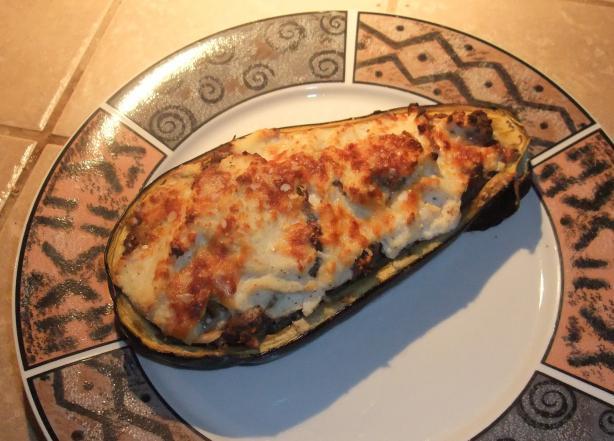 Moussaka-Style Stuffed Eggplant (Aubergine)