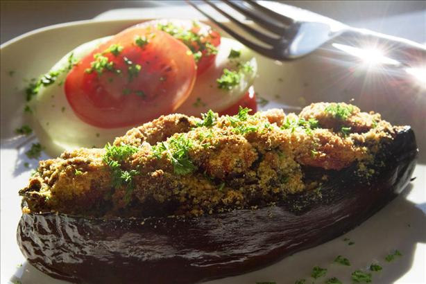 Shrimp Stuffed Eggplant (Aubergine)