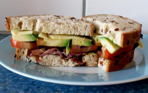 "Avocado ""bacon"" Sandwich!"
