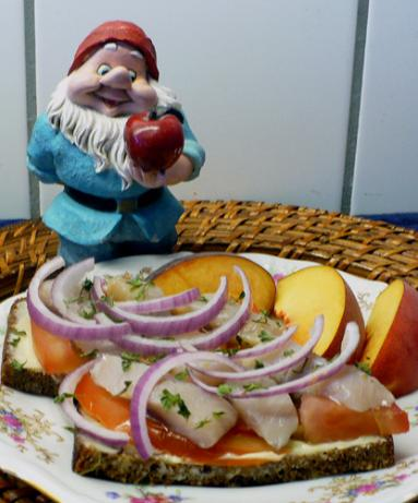 Onion and Herring Sandwich - Smorrebrod