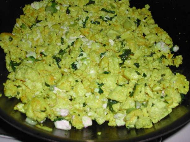 Scrambled Tofu With Herbs and Cheese by Deborah Madison