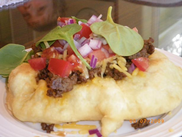 California Style Indian Fry Bread Tacos