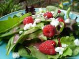 Garden Greens With Raspberries, Goat Cheese & Raspberry Vina