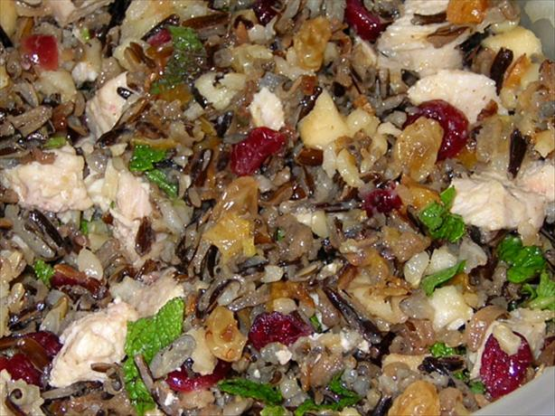 Wild Rice Salad With Mustard Honey Dressing