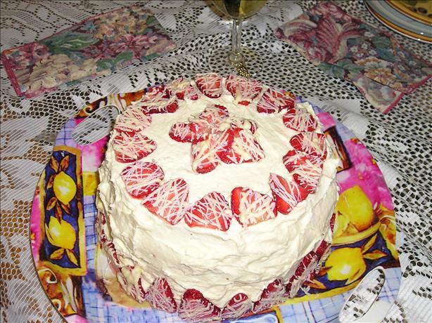 Lisa's White Chocolate Strawberry Mousse Cake