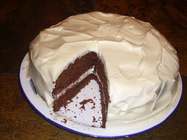 Chocolate Buttermilk Cake With a Sour Cream Frosting