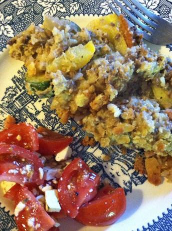 Harvest Yellow & Zucchini Squash & Beef Casserole