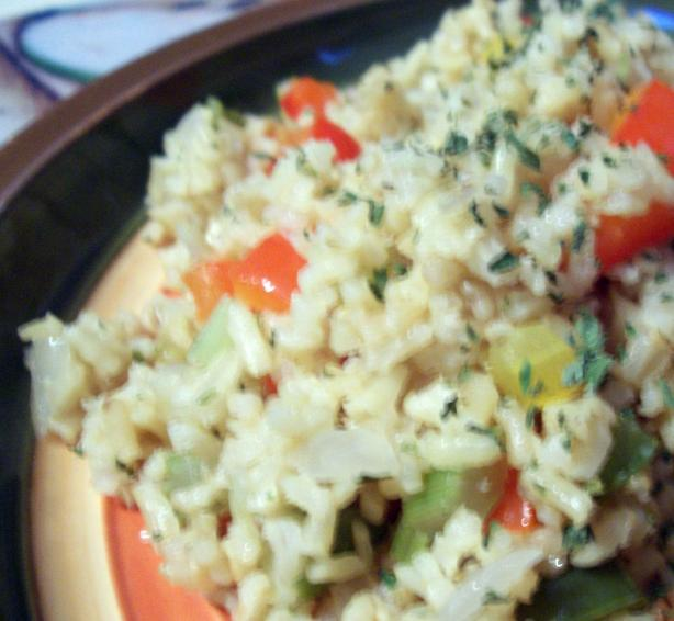 Peppered Brown Rice