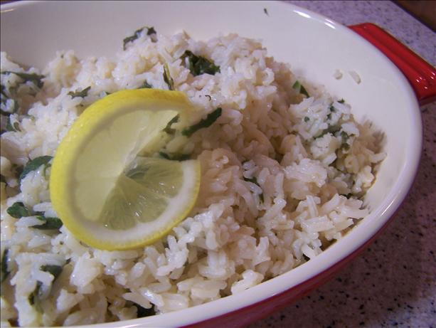 Spinach Lemon Rice