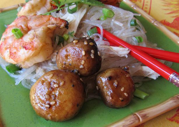 Teriyaki and Sesame Roasted Mushrooms