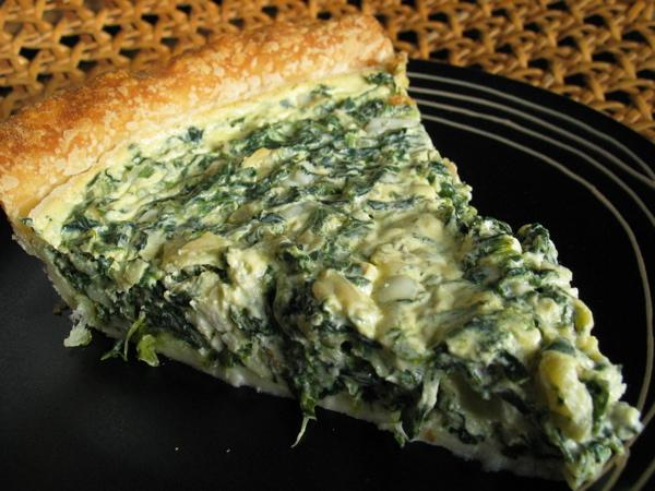 Tre's Spinach and Feta Cheese Quiche
