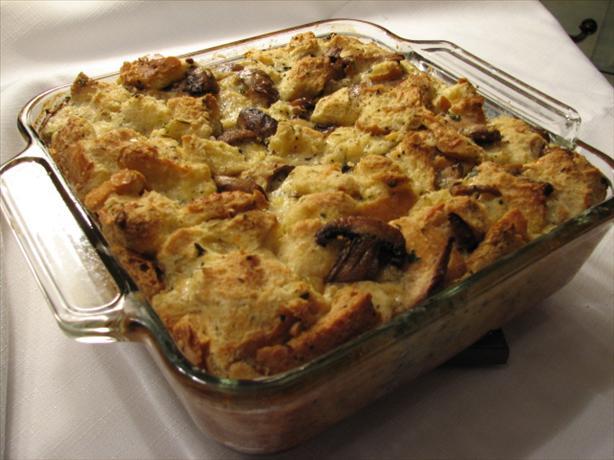 Wild-Mushroom Bread Pudding