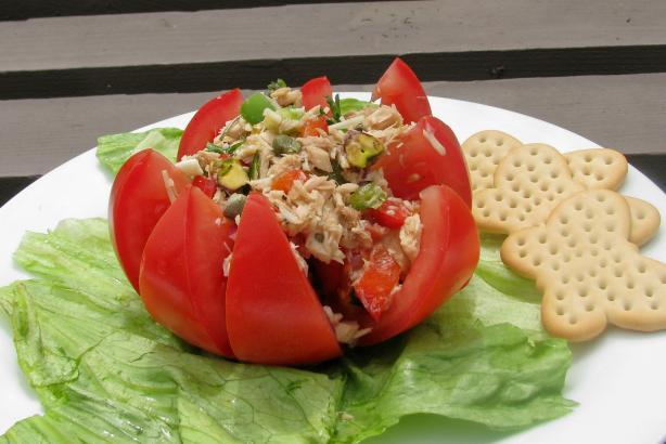 Mediterranean Tuna Stuffed Tomato