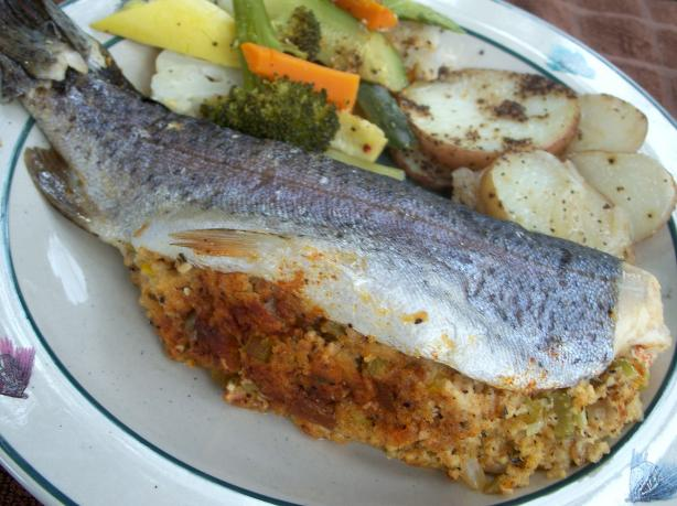 Stuffed Trout (Campside or Grilled)