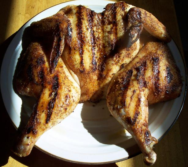 Nif's Butterflied Grilled Whole Chicken