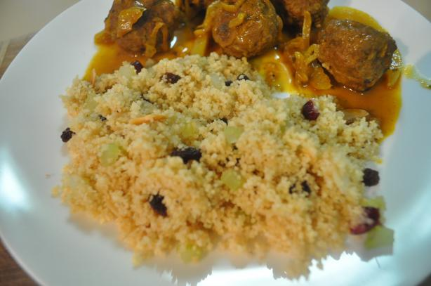 Toasted Couscous with Almonds and Raisins