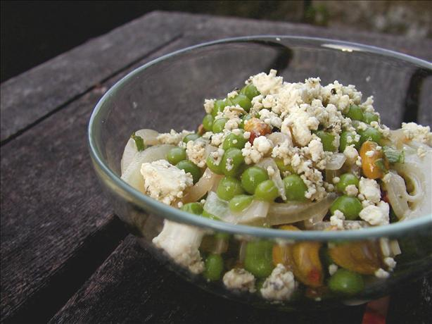 Pea, Feta and Mint Salad With Pistachios