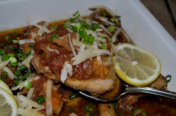 Chicken Thighs in a Wine and Lemon Sauce