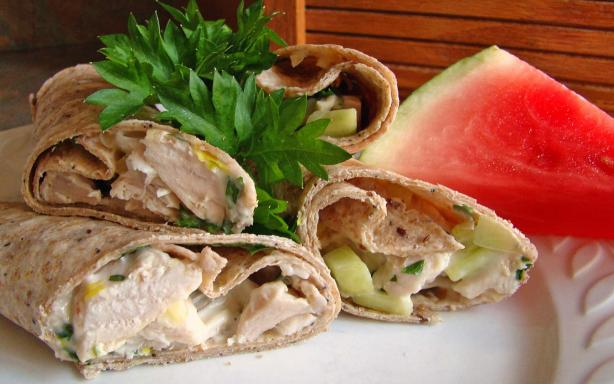 Chunky Chicken Salad Wraps - Ww