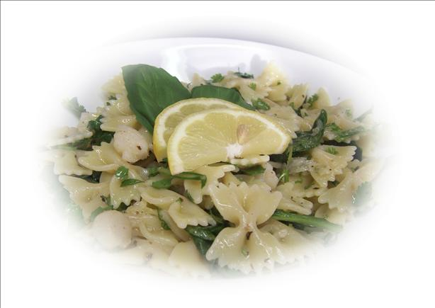 Farfalle W/herbs and Scallops