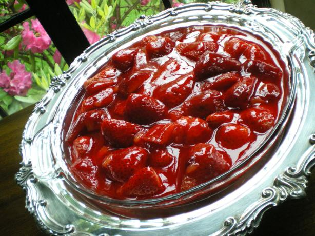 Fresh Crustless Strawberry Pie