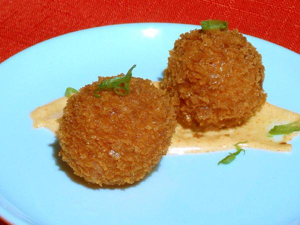 Ham and Manchego Croquetas With Smoked Paprika Aioli