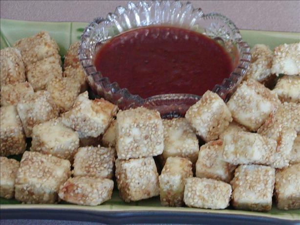 Deep Fried Tofu With Asian Plum Sauce or Thai Peanut Sauce