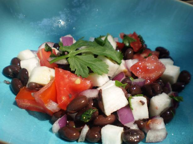 Jicama, Tomato, and Black Bean Salad