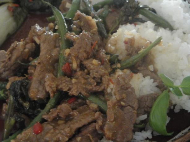 Stir-Fried Beef With Basil