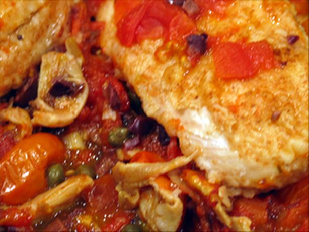 Chicken W/ Oyster Mushrooms & Tomatoes