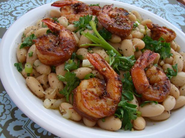 Shrimp With Cannellini Bean Salad