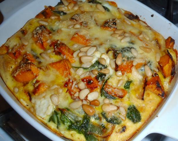 Feta, Sweet Potato and Spinach Crustless Quiche (Gluten-Free)
