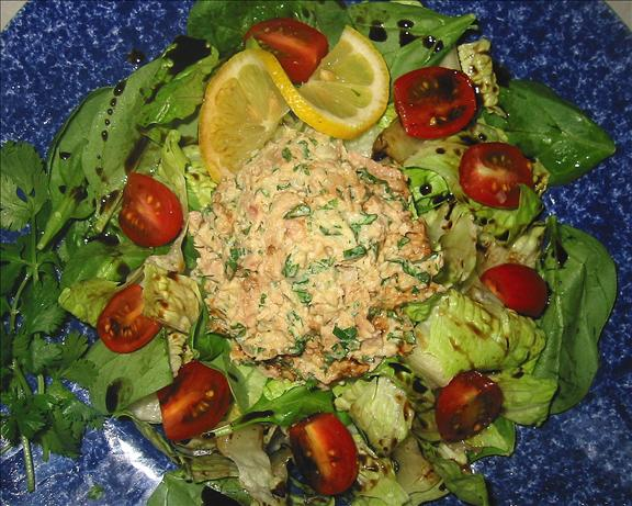 South Beach Style Tuna Salad With Low Fat Cilantro Mayo