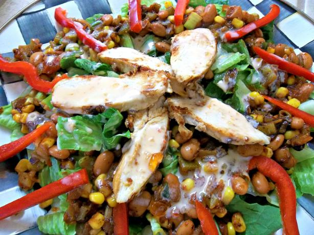 Spicy Warm Chicken Salad