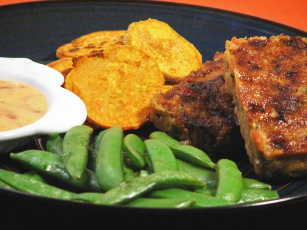 Mini Meatloaves With Baked Sweet Potato Chips