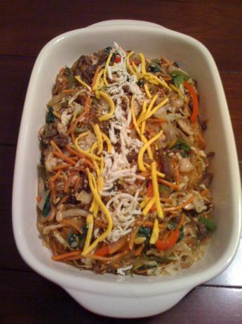 Chop Chae (Korean Mixed Vegetables With Beef and Noodles)