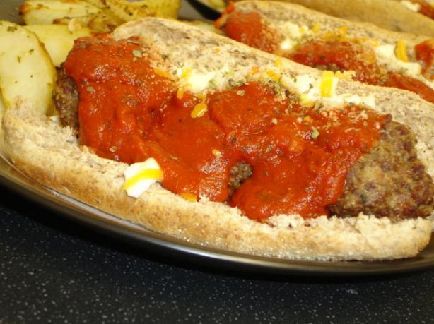 Ooey-Gooey Meatball Submarine Sandwich