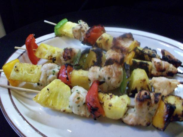 Coconut Chicken and Pineapple Skewers